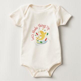 Cosas de la sacudida para arriba mameluco de bebé