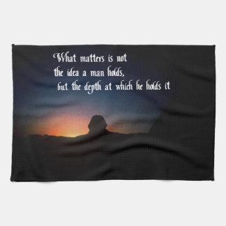 Cosas de una naturaleza espiritual toallas