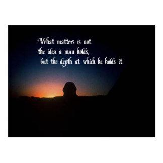 Cosas de una naturaleza espiritual postal