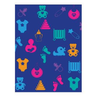 Cosas del bebé tarjeta postal
