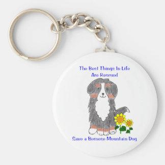 Cosas del perro de montaña de Bernese las mejores Llavero Redondo Tipo Pin