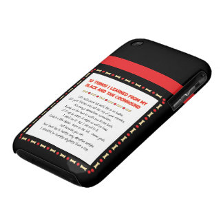 Cosas divertidas aprendidas de Coonhound del negro Case-Mate iPhone 3 Carcasa