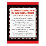 Cosas divertidas I aprendido de Jack Russell Terri Postal