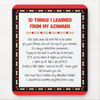 Cosas divertidas I aprendido de mi Azawakh Alfombrillas De Raton