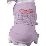Cosas divertidas I aprendido de mi con cresta chin Camiseta De Mascota