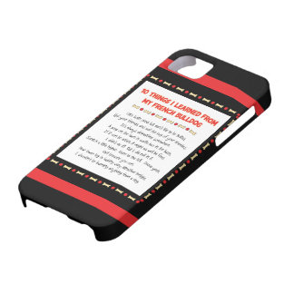 Cosas divertidas I aprendido de mi dogo francés iPhone 5 Case-Mate Cobertura