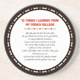 Cosas divertidas I aprendido de mi dogo francés Posavasos Diseño