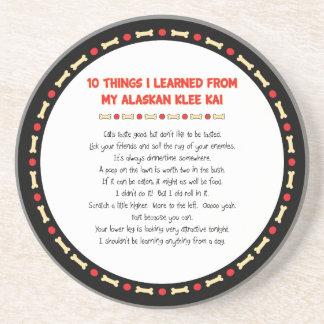 Cosas divertidas I aprendido de mi Klee de Alaska Posavasos Personalizados