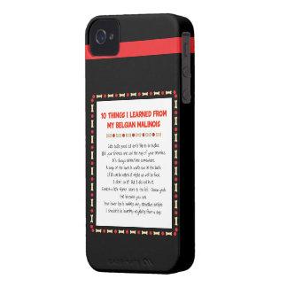 Cosas divertidas I aprendido de mi Malinois belga iPhone 4 Case-Mate Protectores