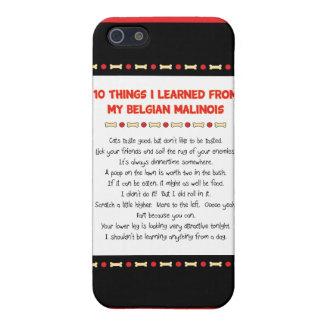 Cosas divertidas I aprendido de mi Malinois belga iPhone 5 Cárcasa