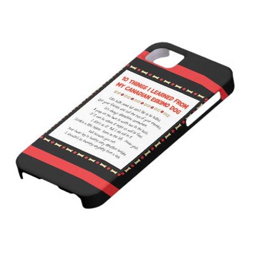 Cosas divertidas I aprendido de mi perro esquimal  iPhone 5 Case-Mate Cárcasa