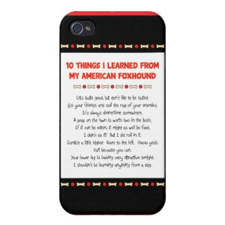 Cosas divertidas I aprendido de mi raposero americ iPhone 4 Protectores