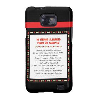 Cosas divertidas I aprendido de mi samoyedo Samsung Galaxy S2 Carcasa