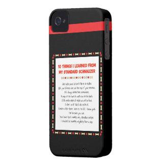 Cosas divertidas I aprendido de mi Schnauzer iPhone 4 Funda