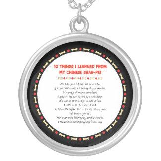 Cosas divertidas I aprendido de mi Shar-Pei chino Colgante Redondo