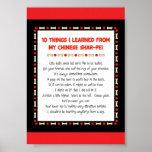 Cosas divertidas I aprendido de mi Shar-Pei chino Poster