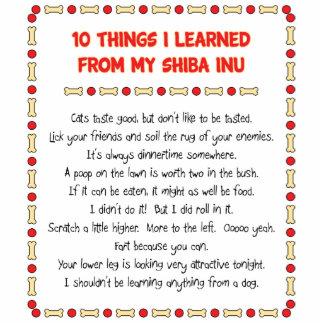 Cosas divertidas I aprendido de mi Shiba Inu Escultura Fotografica