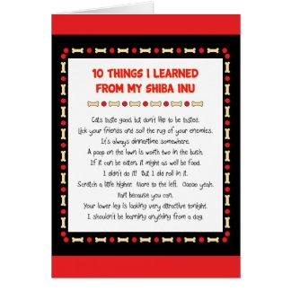 Cosas divertidas I aprendido de mi Shiba Inu Felicitación