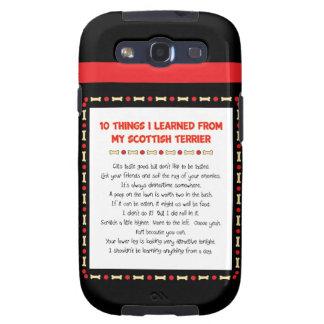 Cosas divertidas I aprendido de mi Terrier escocés Galaxy S3 Protector