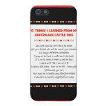 Cosas divertidas I aprendido de perro australiano  iPhone 5 Carcasas