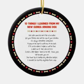 Cosas divertidas I aprendido de perro del canto de Ornamente De Reyes