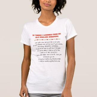 Cosas divertidas I aprendido de perro pastor T-shirts