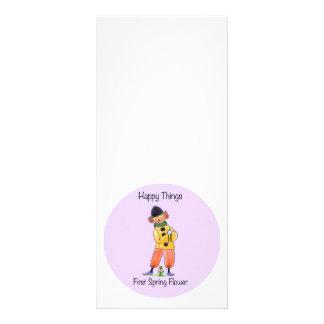 Cosas felices - primera flor de la primavera tarjetas publicitarias personalizadas