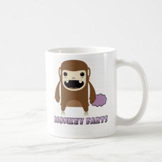 Cosas malolientes del mono taza básica blanca