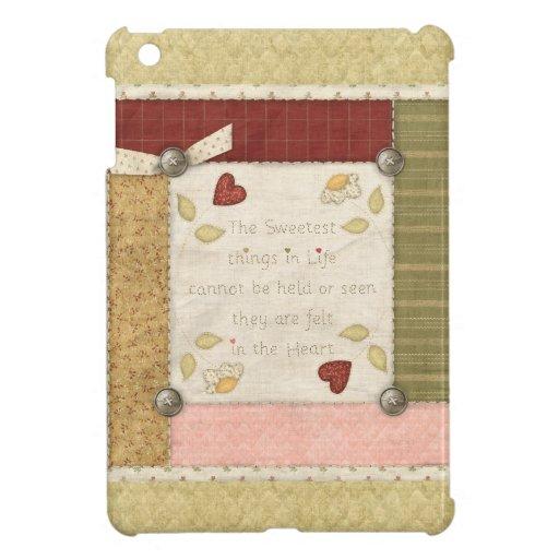 Cosas más dulces acolchadas caso del iPad de la vi iPad Mini Protectores
