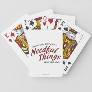 Cosas necesarias barajas de cartas