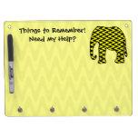 Cosas para recordar el elefante del zigzag tableros blancos