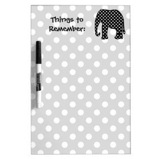 Cosas para recordar el elefante pizarras blancas