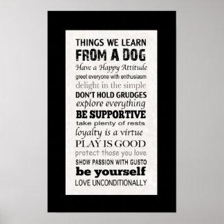 Cosas que aprendemos de un poster del perro póster