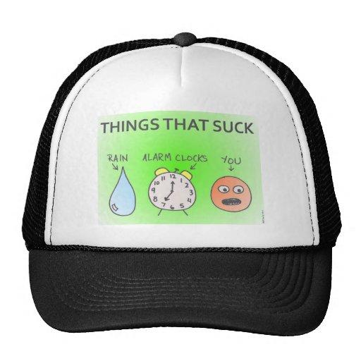 """""""Cosas que chupan"""" el gorra"""