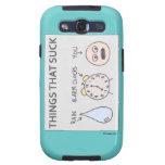 """""""Cosas que chupan"""" la caja de la galaxia de Samsun Samsung Galaxy S3 Cárcasa"""