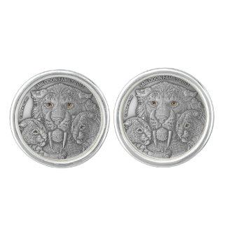 COSAS SALVAJES: Mancuernas redondas de plata de Mancuernillas