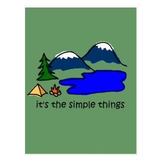 Cosas simples - acampando postal