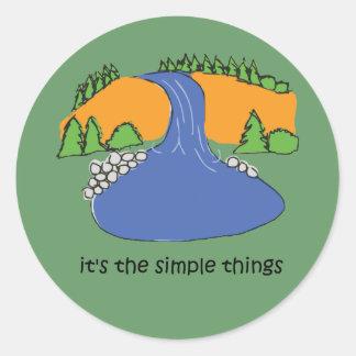 Cosas simples - cascada pegatina redonda
