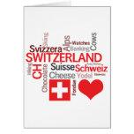 Cosas suizas preferidas - amor Suiza de I Tarjeta De Felicitación