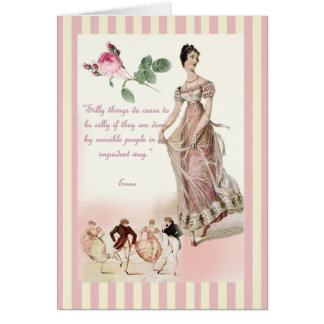 Cosas tontas - Jane Austen Tarjeta De Felicitación