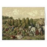 Cosecha 1857 de los saltos tarjeta de felicitación grande