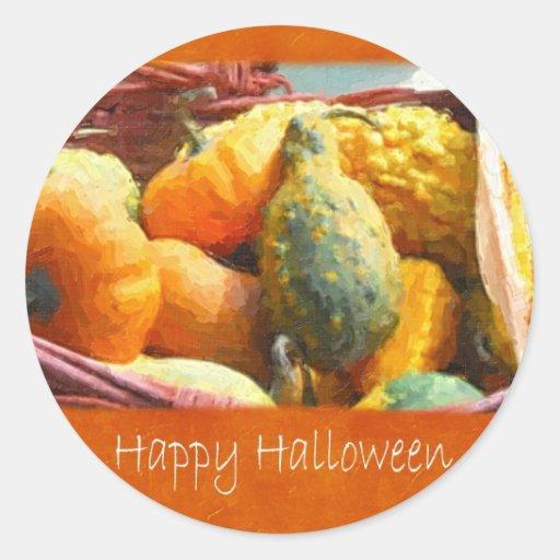 Cosecha 3 de Halloween - feliz Halloween Pegatina Redonda