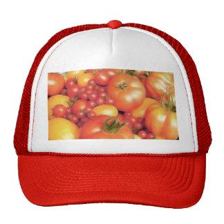 Cosecha abundante - tomates de la herencia gorras de camionero
