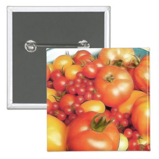 Cosecha abundante - tomates de la herencia pins