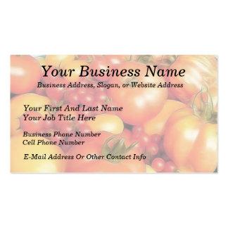 Cosecha abundante - tomates de la herencia tarjetas de negocios