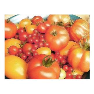 Cosecha abundante - tomates de la herencia postal