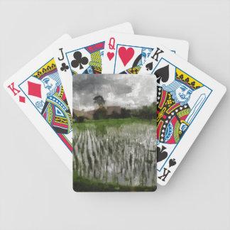 Cosecha blanca baraja de cartas bicycle