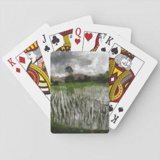 Cosecha blanca barajas de cartas