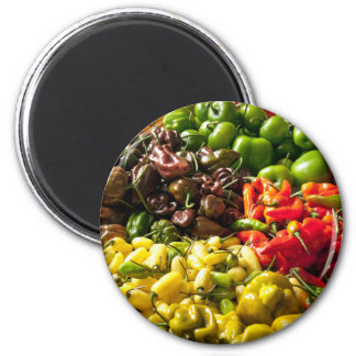 Cosecha de chiles imán redondo 5 cm