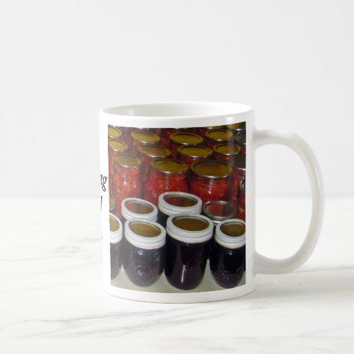 Cosecha de la caída - atascos de enlatado y más tazas de café